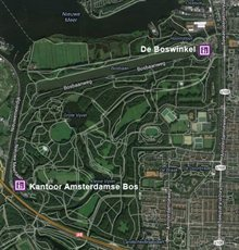 Map of the Amsterdam Forest